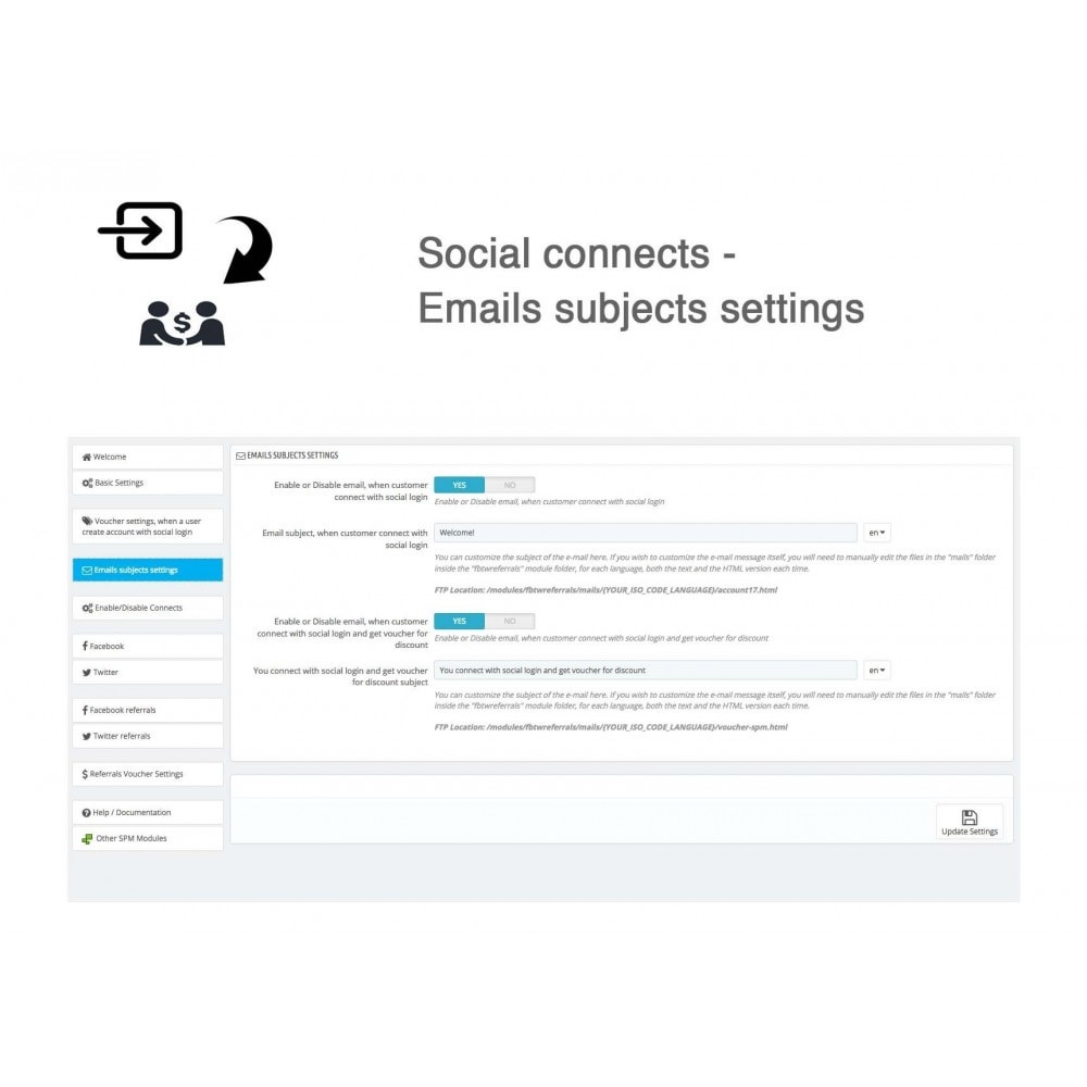module - Descuentos en redes sociales - Social Referrals + Connects (2 in 1) - 32