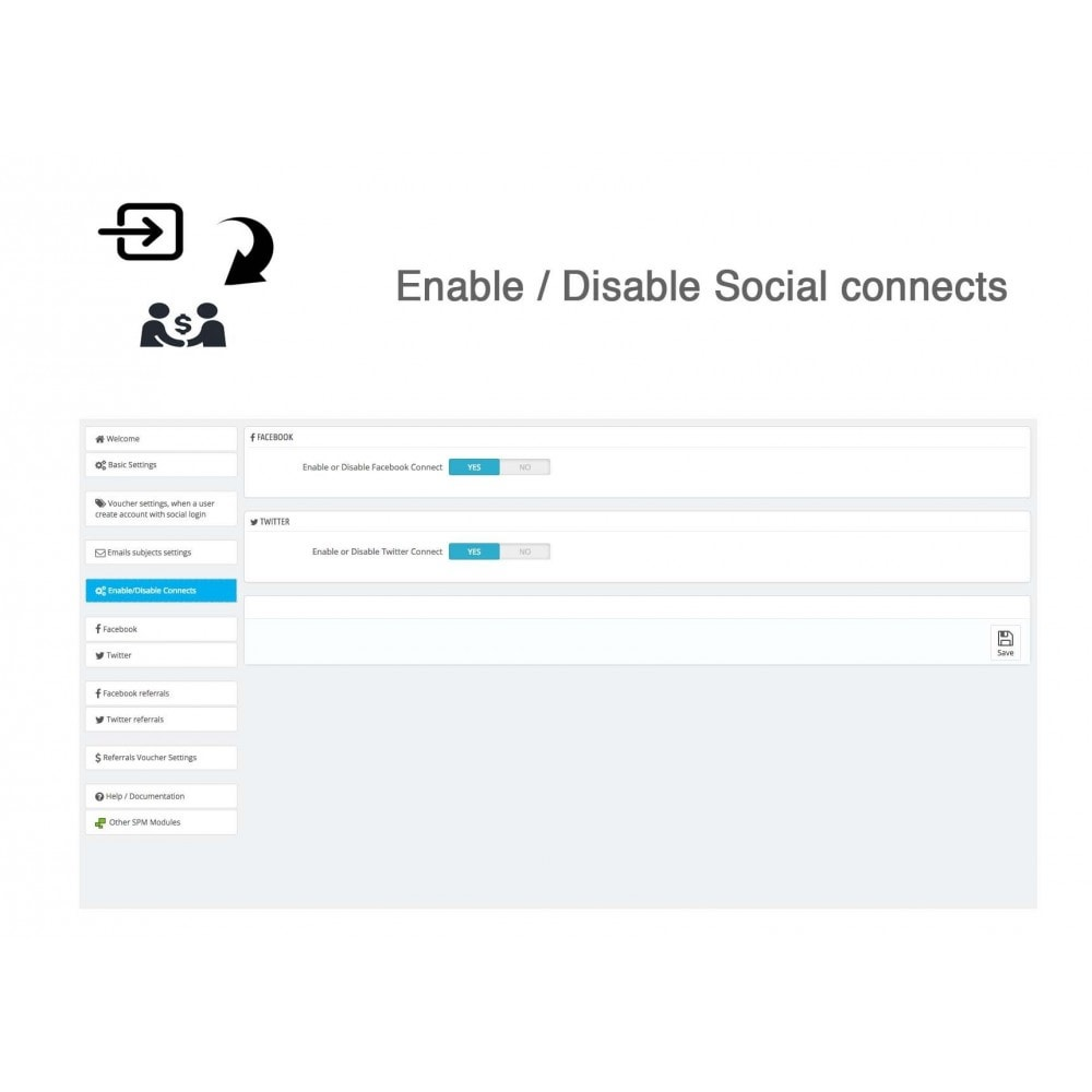 module - Descuentos en redes sociales - Social Referrals + Connects (2 in 1) - 33
