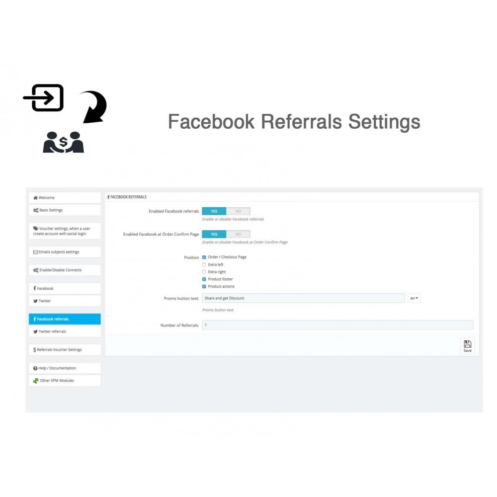 module - Descuentos en redes sociales - Social Referrals + Connects (2 in 1) - 34