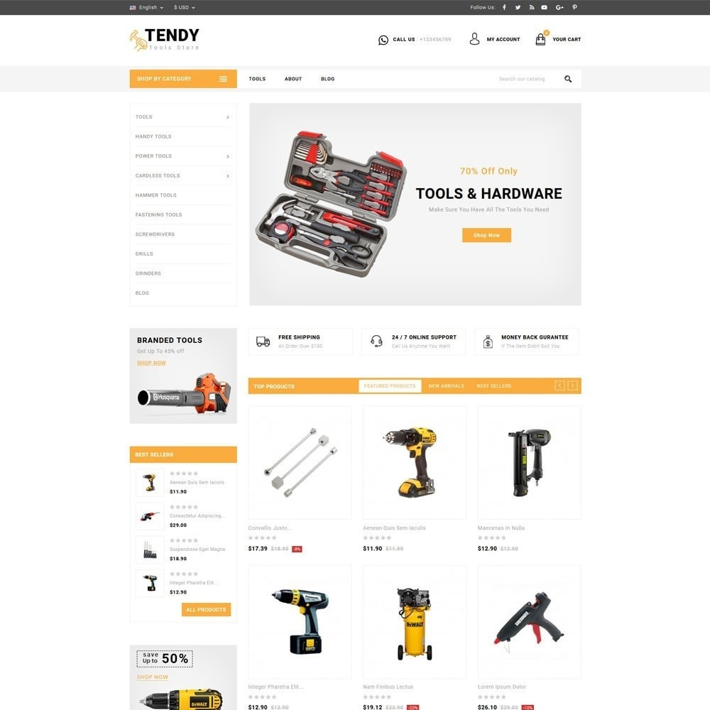 theme - Auto & Moto - Tendy Tools Store - 2