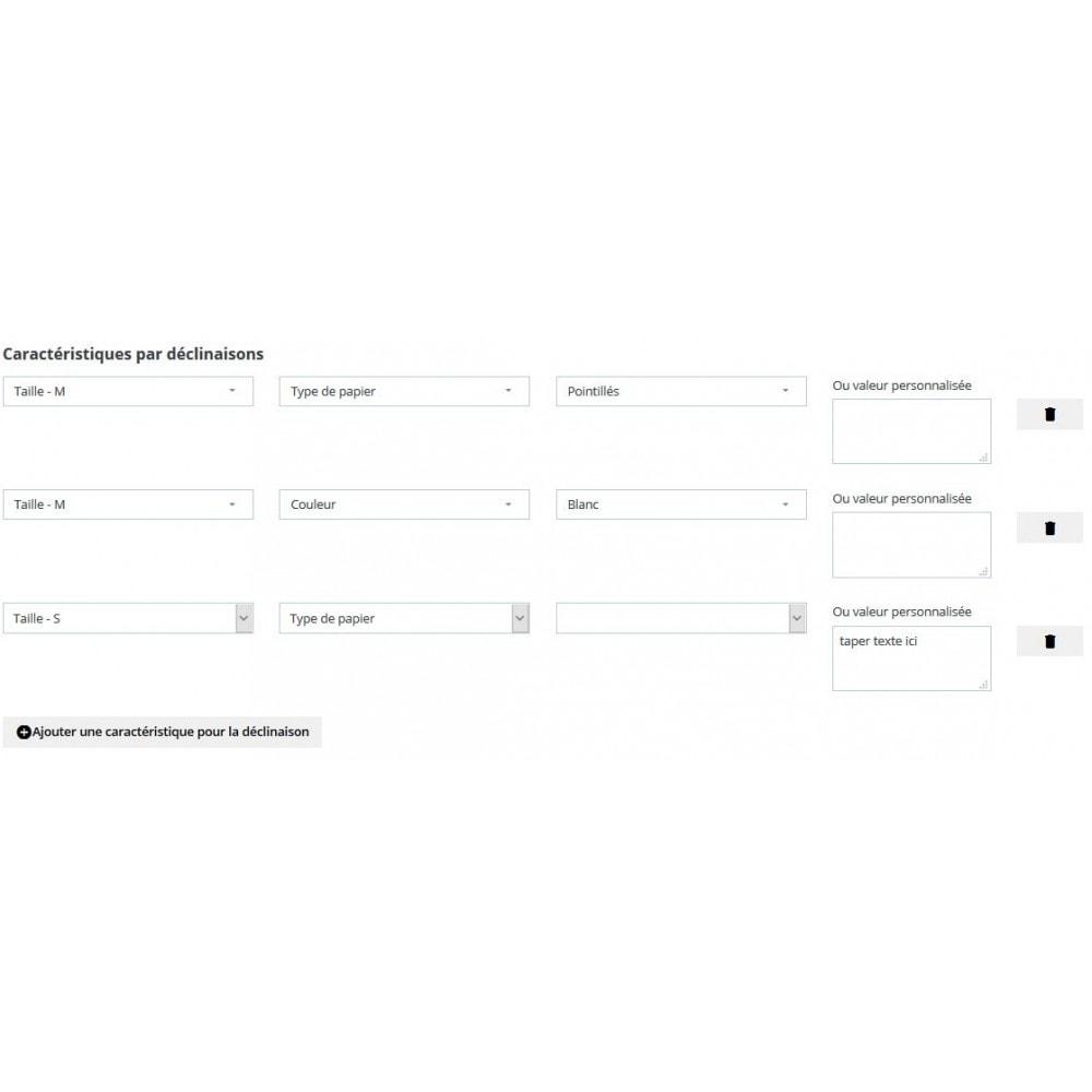 module - Déclinaisons & Personnalisation de produits - Associer produits et caractéristiques à une déclinaison - 3