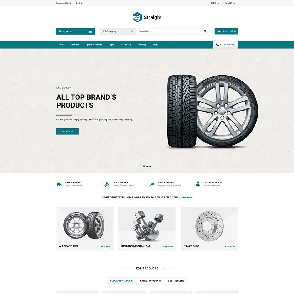 theme - Automotive & Cars - Straight Auto parts shop - 2