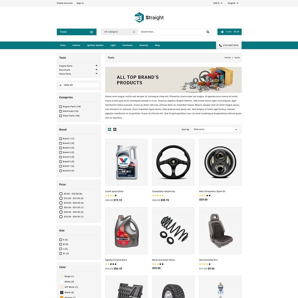theme - Automotive & Cars - Straight Auto parts shop - 3