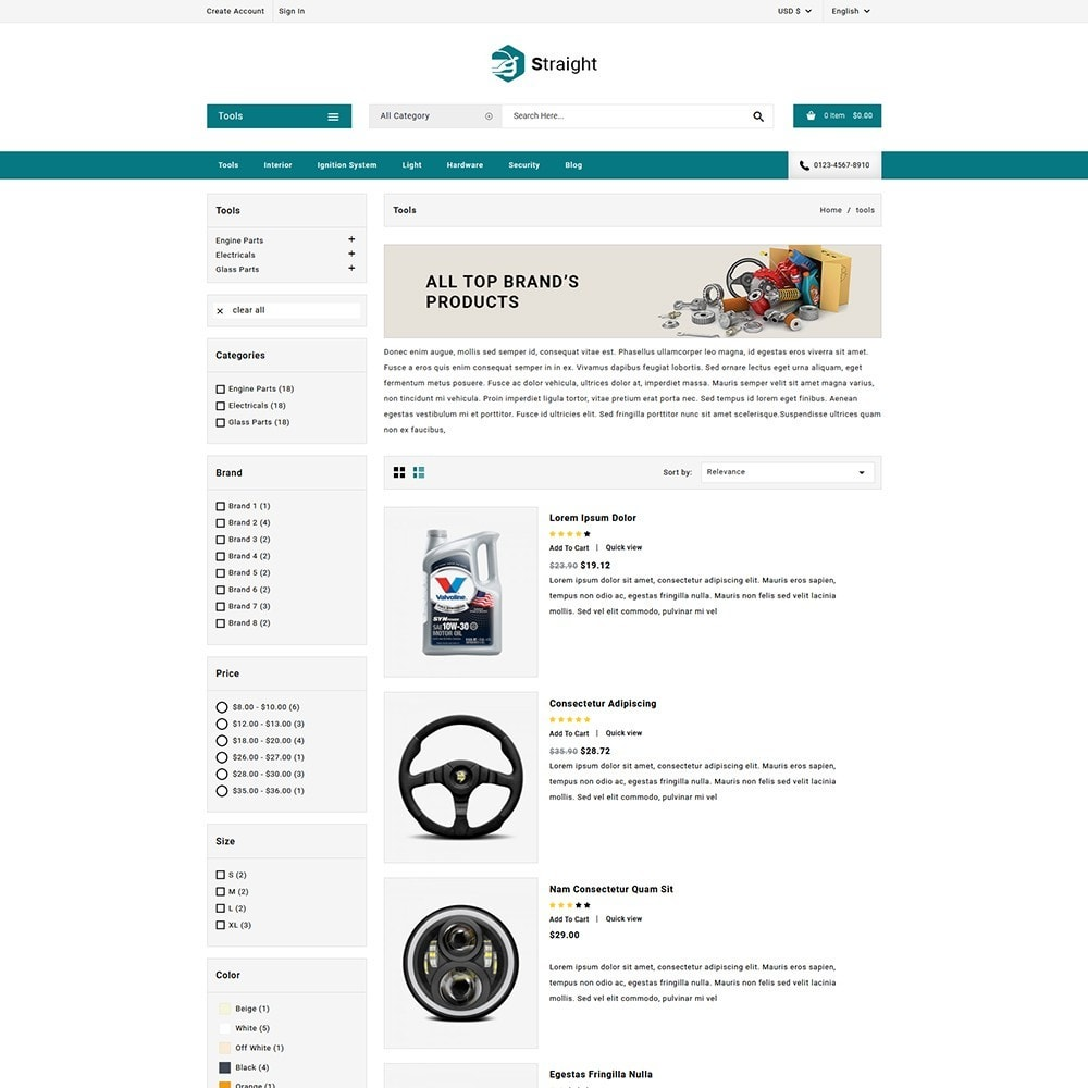 theme - Automotive & Cars - Straight Auto parts shop - 5