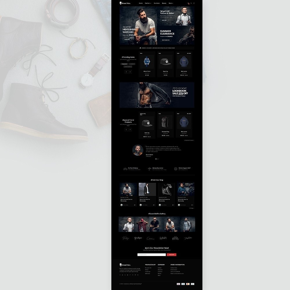 theme - Fashion & Shoes - Brand Men–Fashion Store - 2