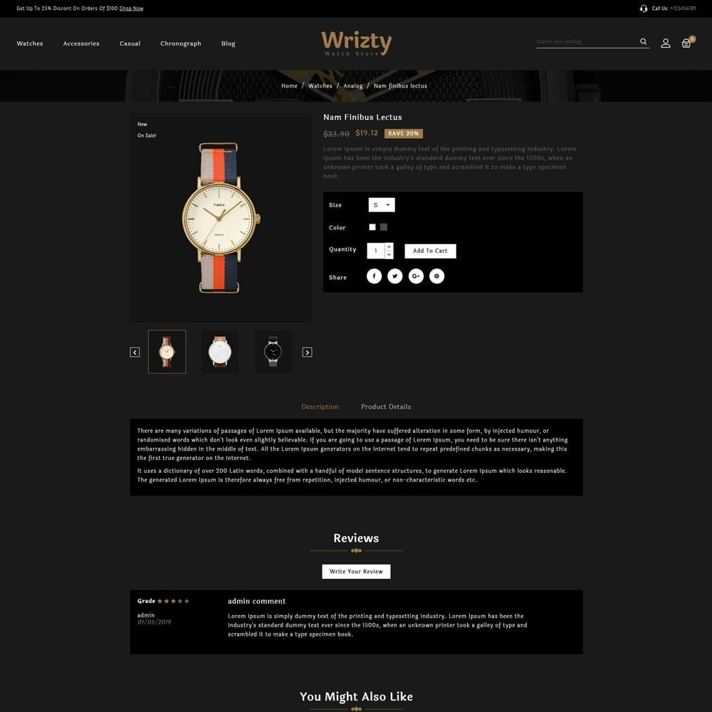 theme - Bellezza & Gioielli - Wrizty Watch Store - 4