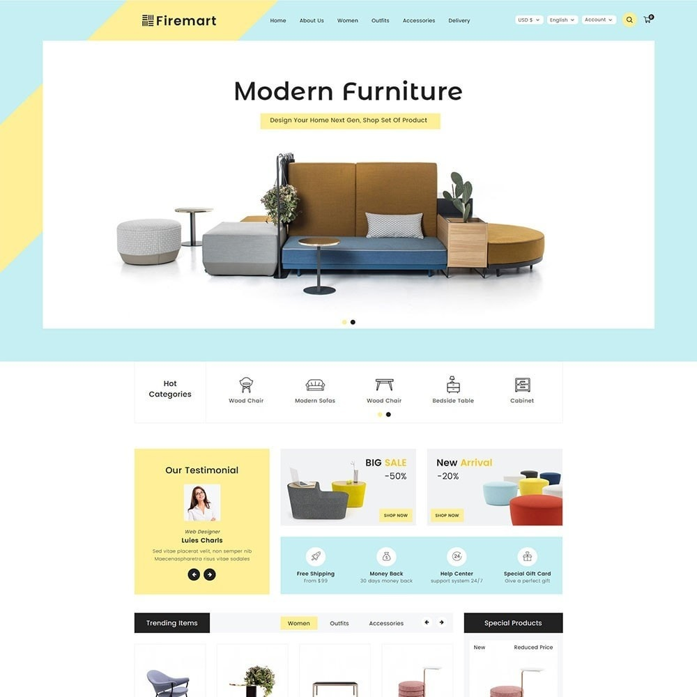theme - Дом и сад - Firemart Furniture Store - 2