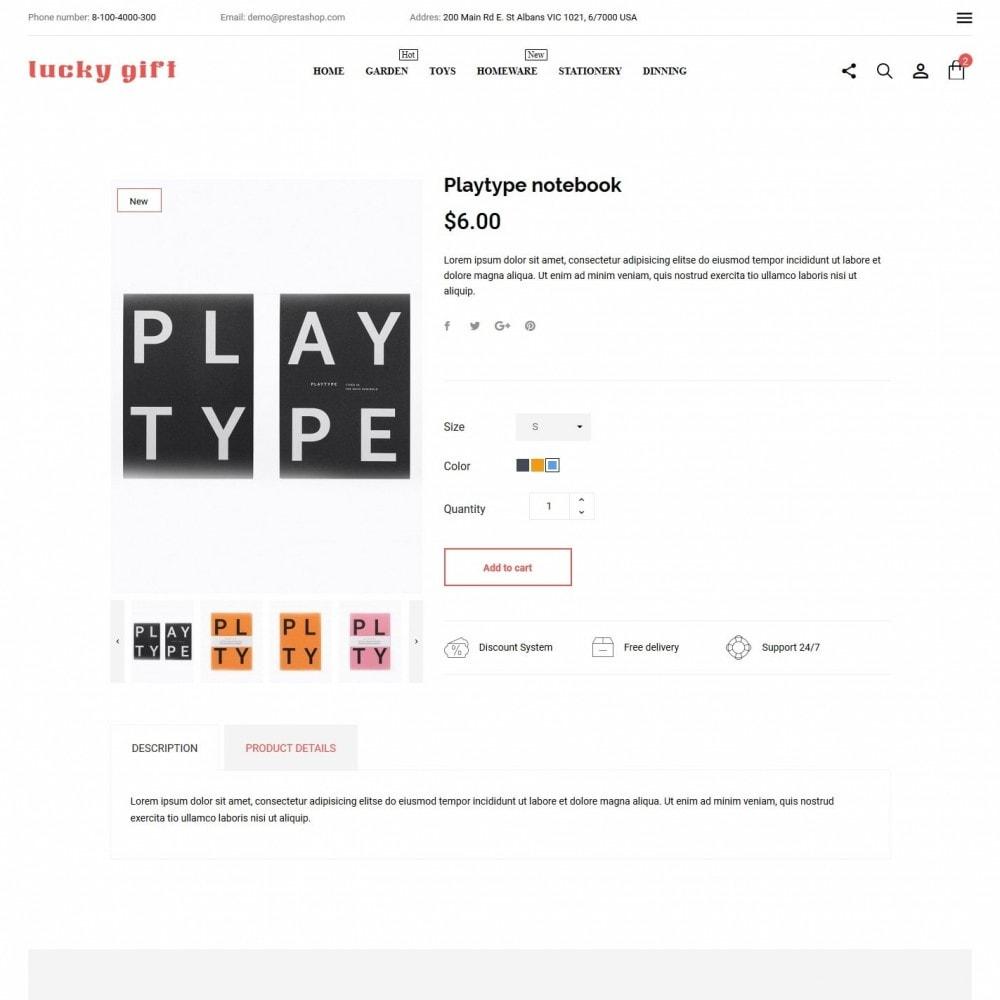 theme - Presentes, Flores & Comemorações - Lucky gift - 6