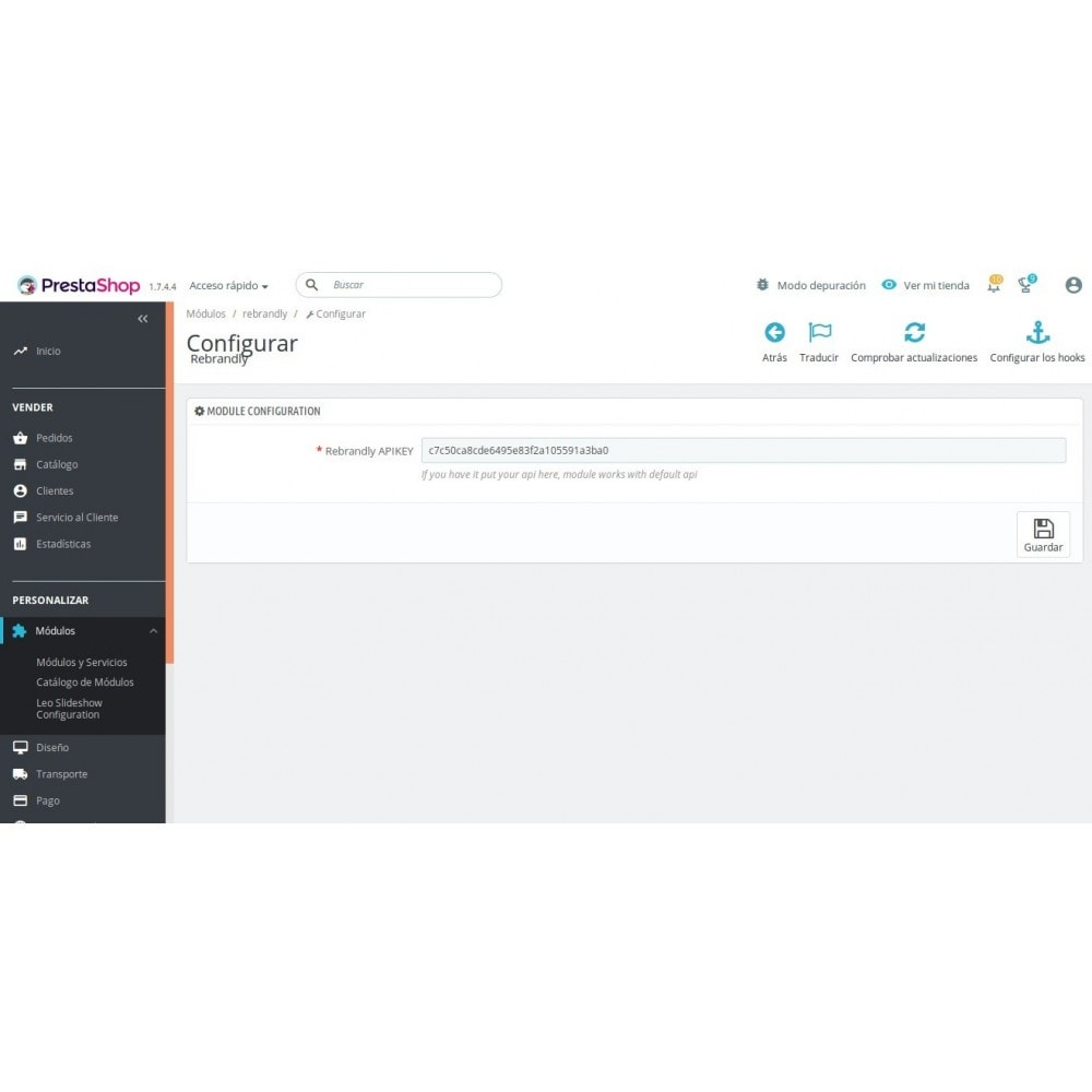 module - Compartir contenidos y Comentarios - Rebrandly Shortlink - 2
