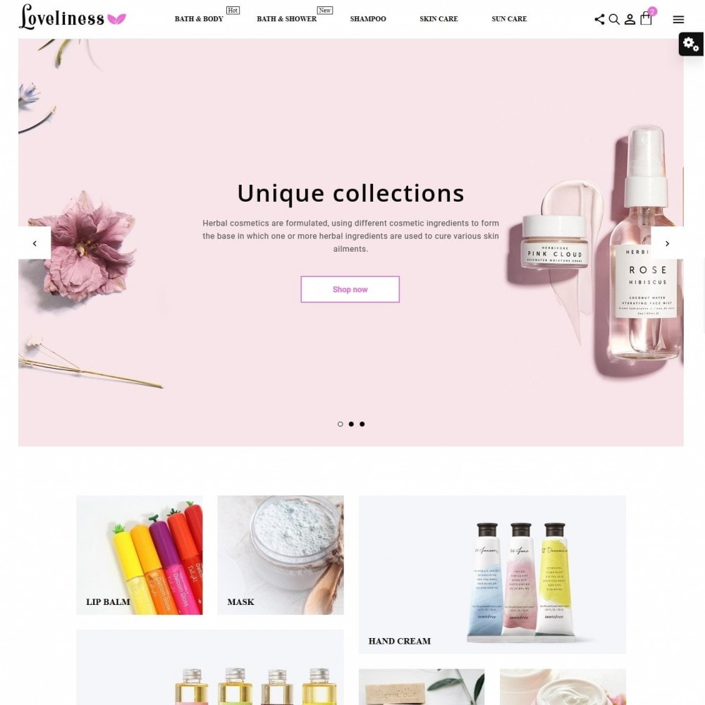 theme - Health & Beauty - Loveliness Cosmetics - 2