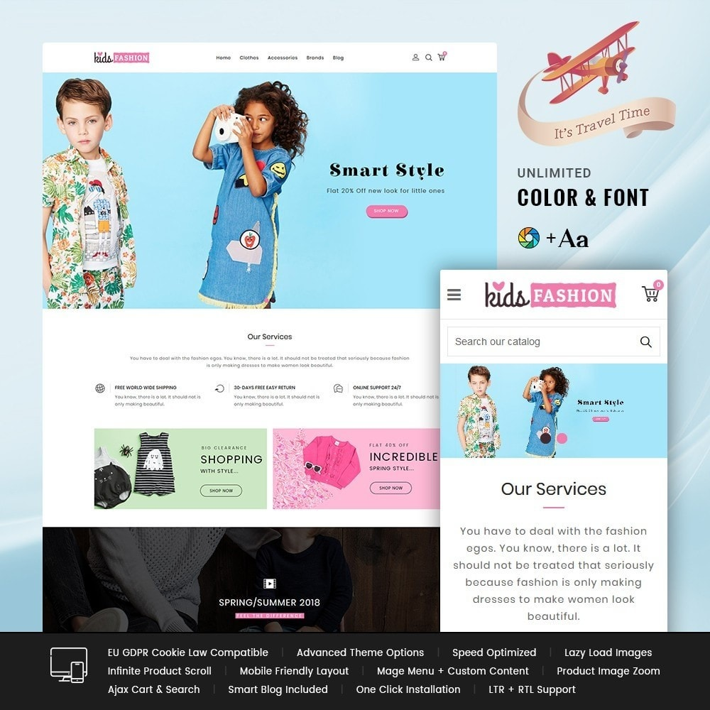 theme - Moda & Calçados - Kids Fashion Store - 1