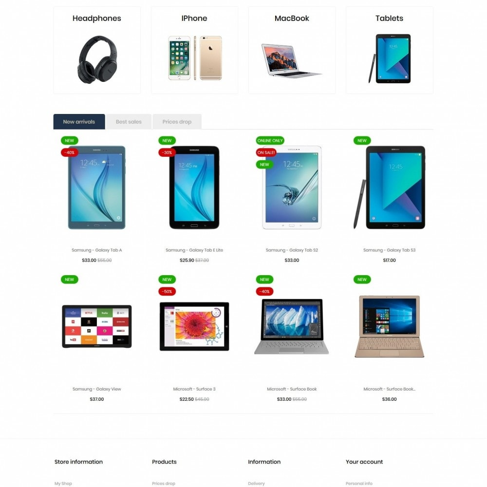 theme - Electronics & Computers - Chlorophytum - High-tech Shop - 3
