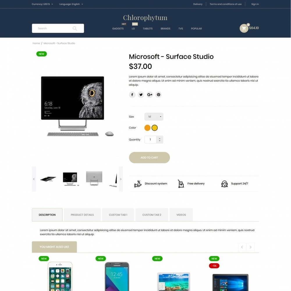 theme - Electronics & Computers - Chlorophytum - High-tech Shop - 6