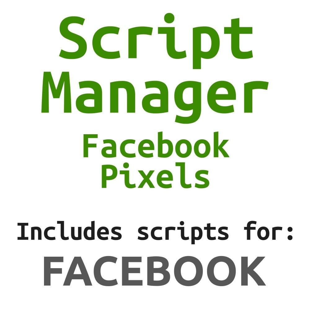 module - Produkten op Facebook & sociale netwerken - Social Network Pixel (Script Manager) - 1