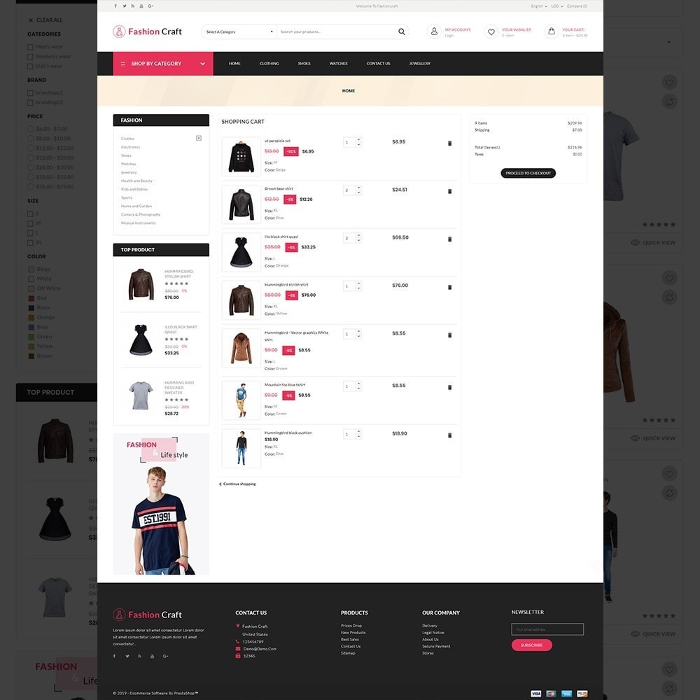 theme - Fashion & Shoes - Fashion Craft - Multipurpose Mega Fashion Store - 13