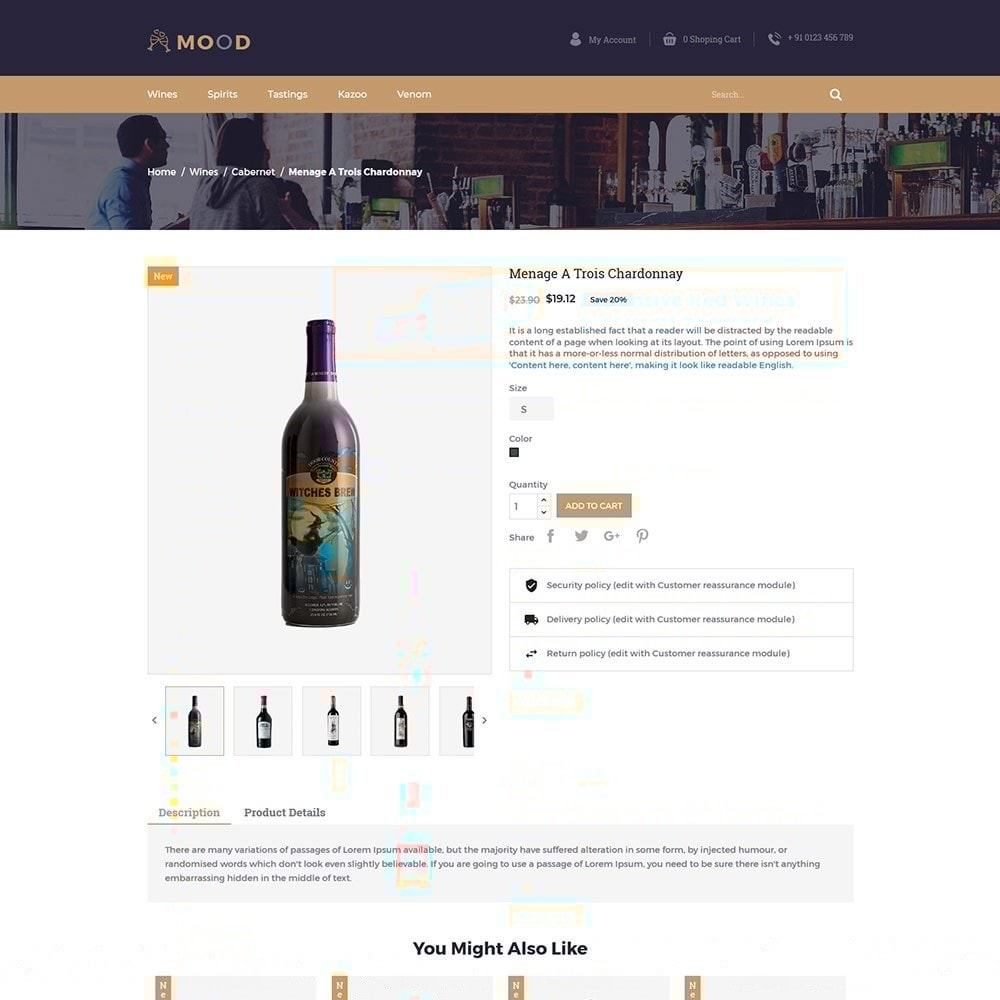 theme - Drink & Tobacco - Mood Wine - Drink Store - 3