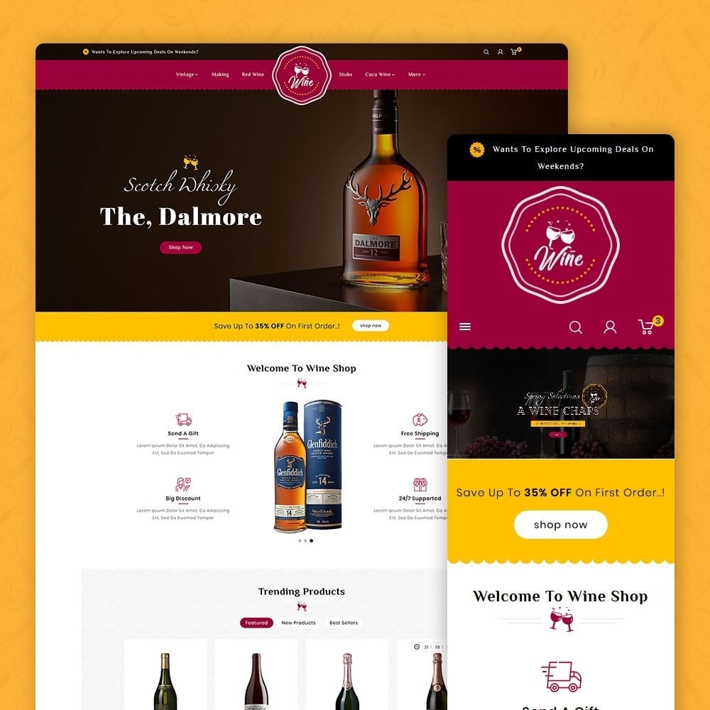 theme - Alimentos & Restaurantes - Wine & Drinks Shop - 1