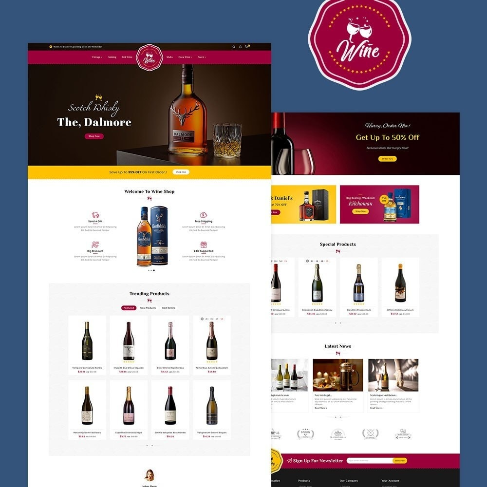 theme - Alimentos & Restaurantes - Wine & Drinks Shop - 2