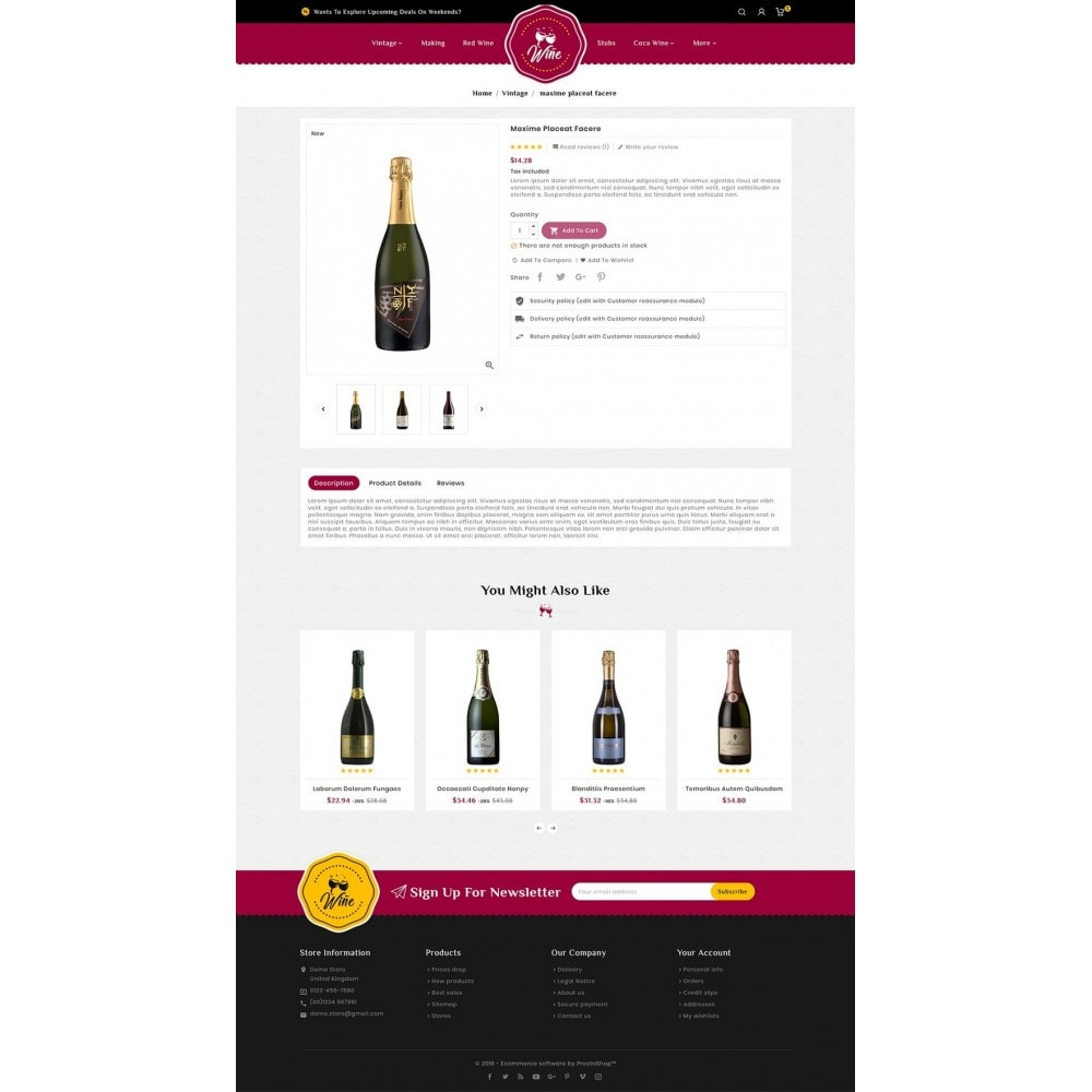 theme - Alimentos & Restaurantes - Wine & Drinks Shop - 5