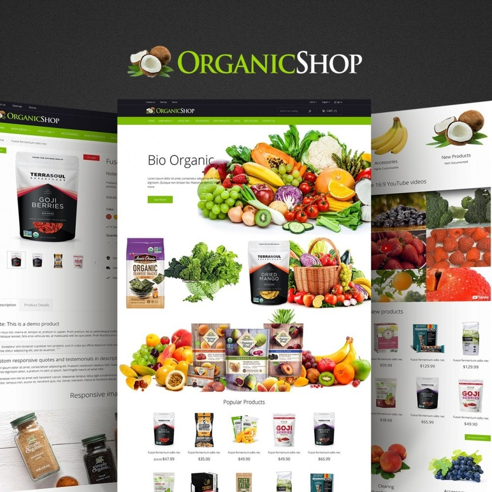 theme - Alimentation & Restauration - OrganicShop - 1
