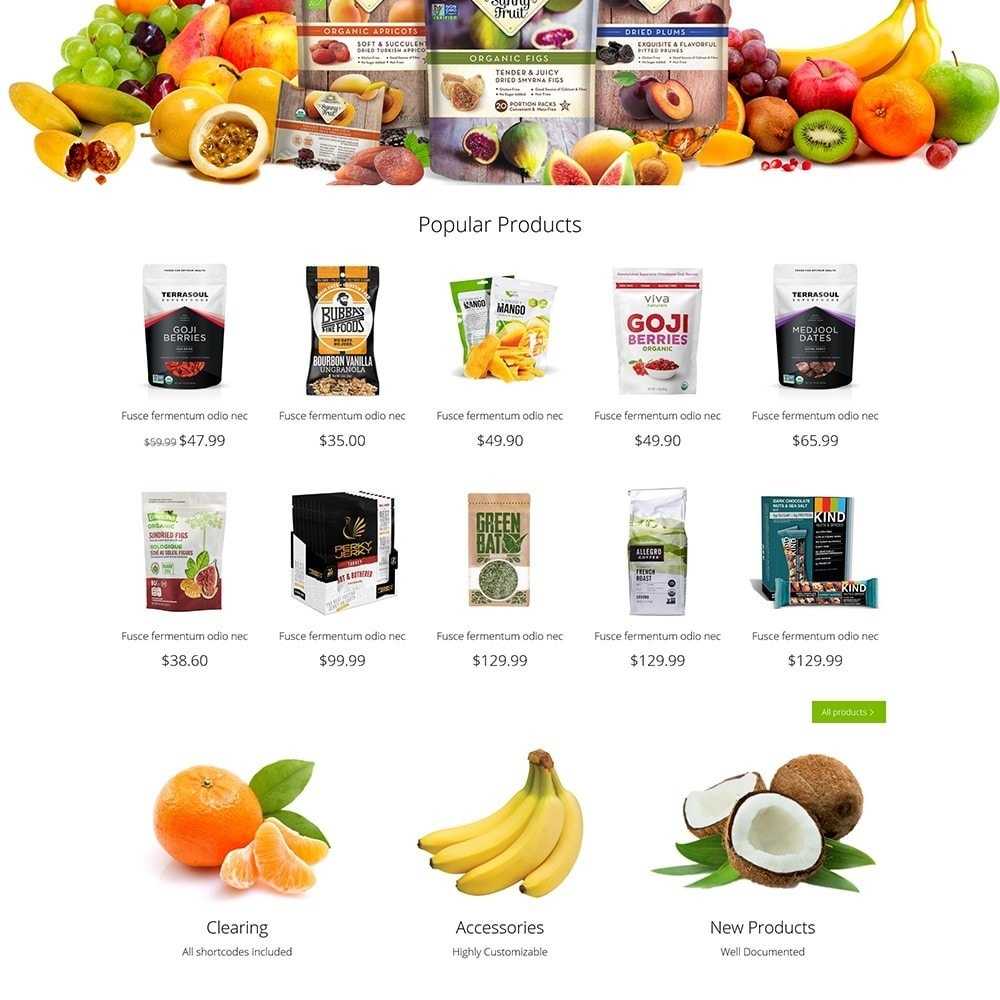 theme - Alimentation & Restauration - OrganicShop - 4