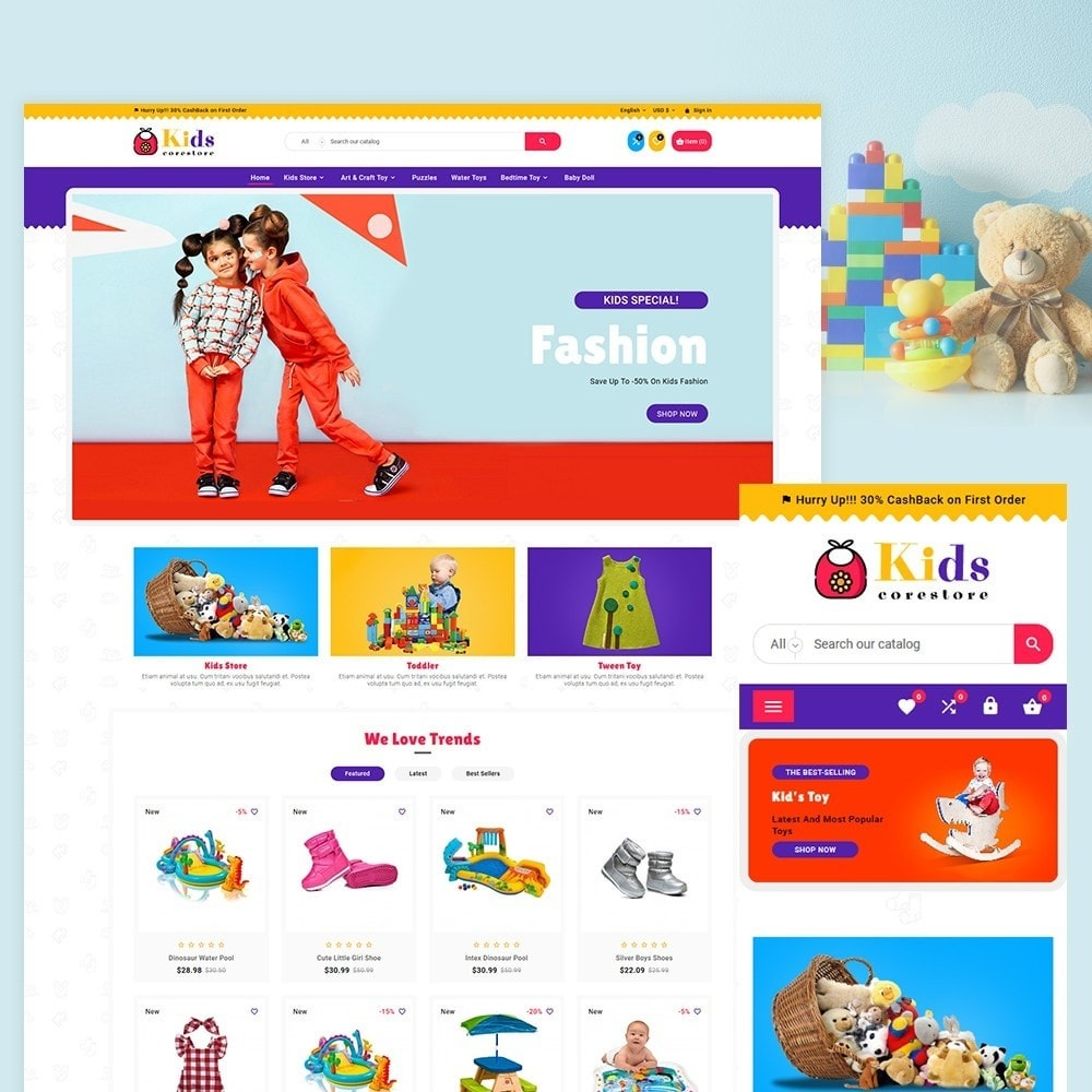 theme - Kids & Toys - Children Kids and Toy Shop - 2