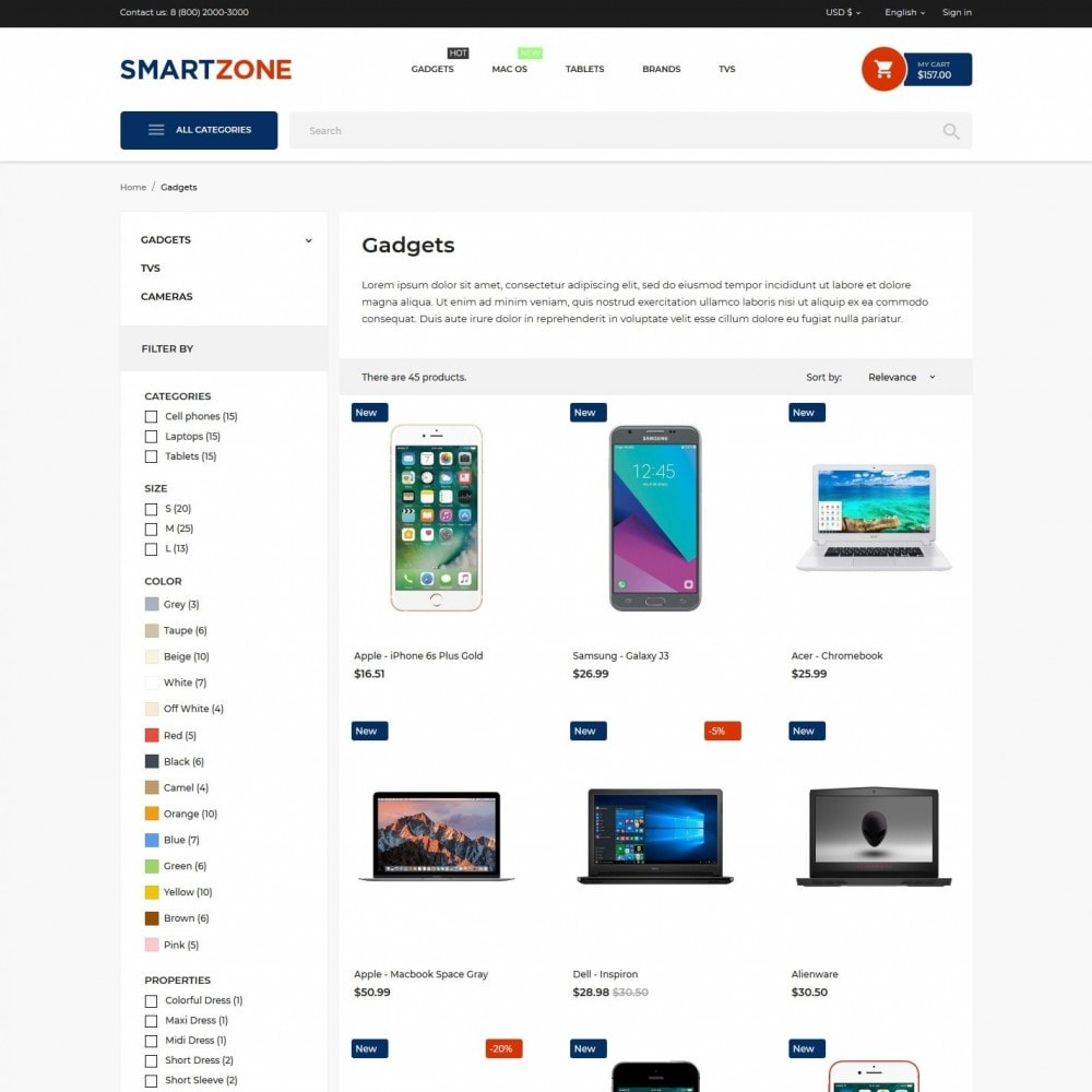 theme - Electronics & Computers - Smartzone - High-tech Shop - 5