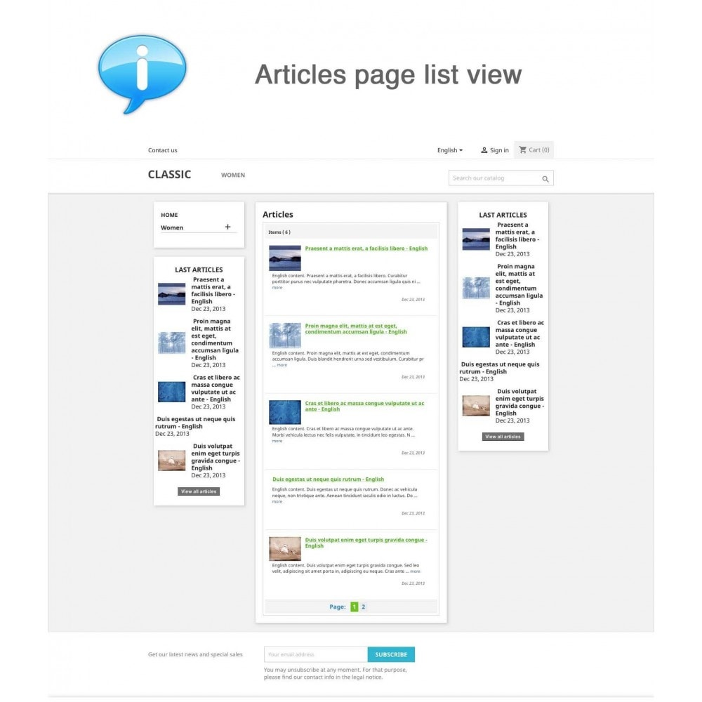 module - Gestión de contenido - Articles, News, Press, Events - 1