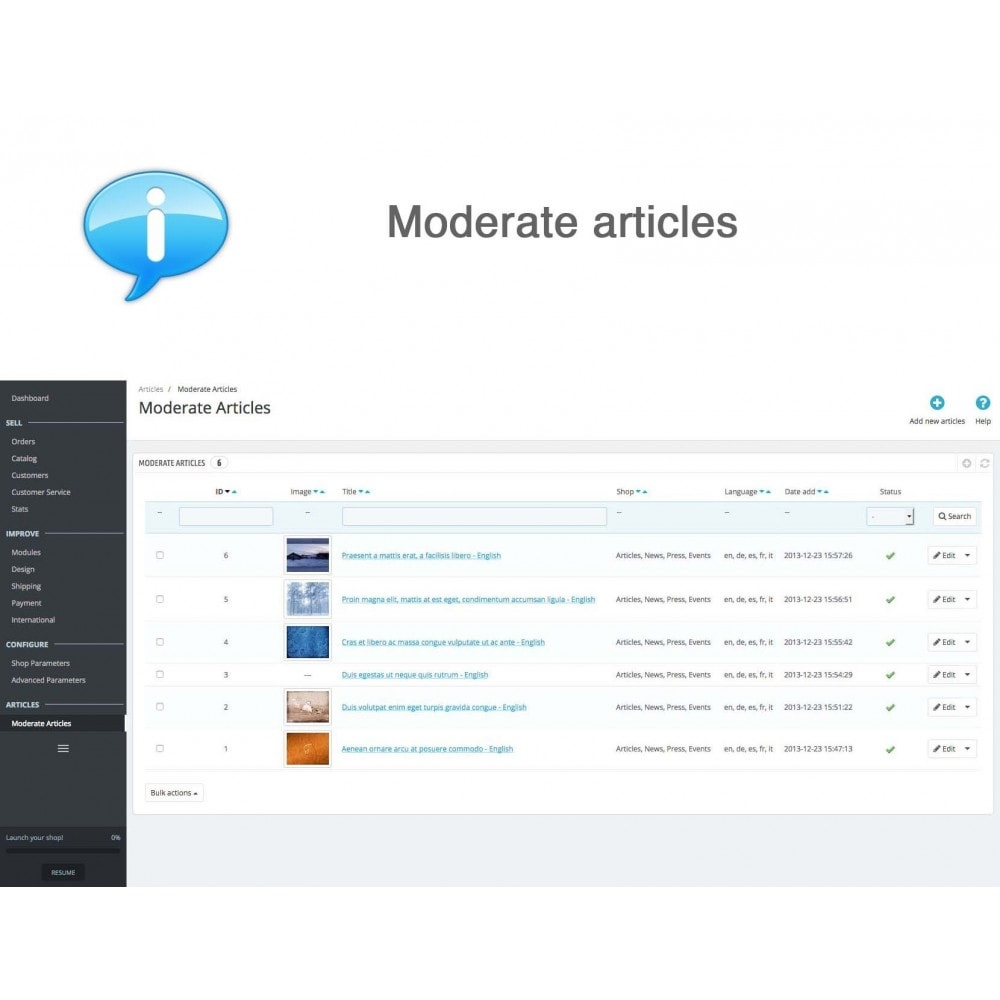 module - Gestión de contenido - Articles, News, Press, Events - 10