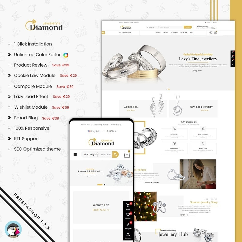 theme - Bellezza & Gioielli - Diamond Jewellery - 1