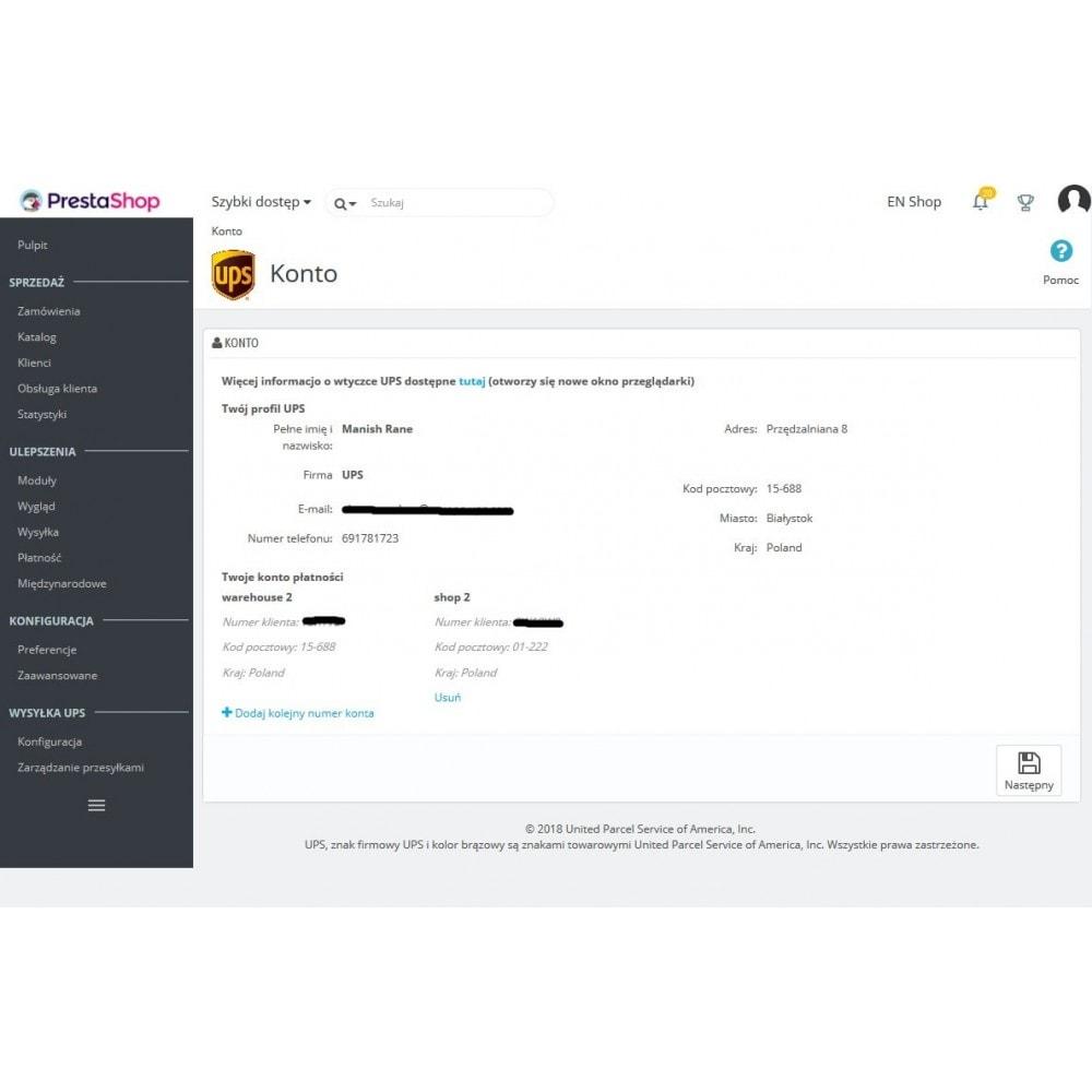 module - Kurierzy - UPS Shipping I UPS Access Point™:Oficjalne Rozszerzenie - 3