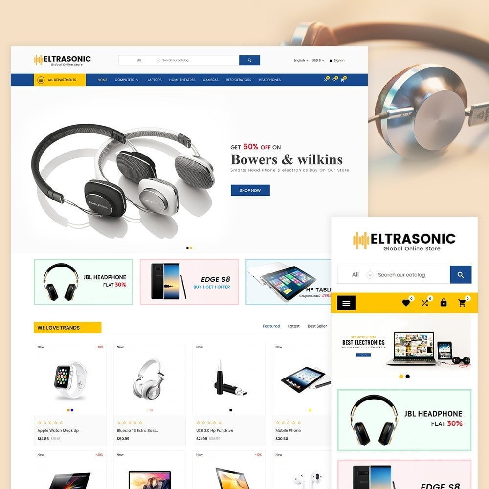 theme - Elettronica & High Tech - Elecrasonic Electronic and Big Super Store - 2