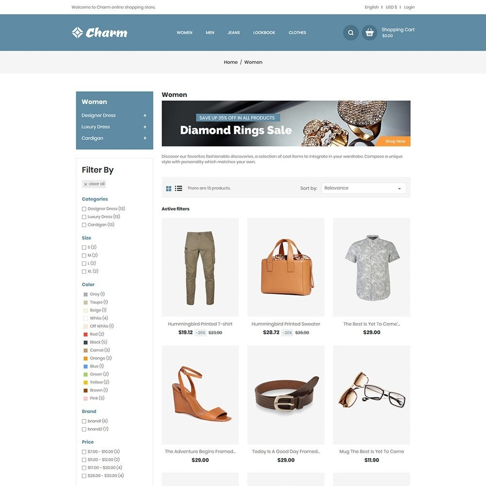 theme - Fashion & Shoes - Charm Apparels - Fashion Store - 4