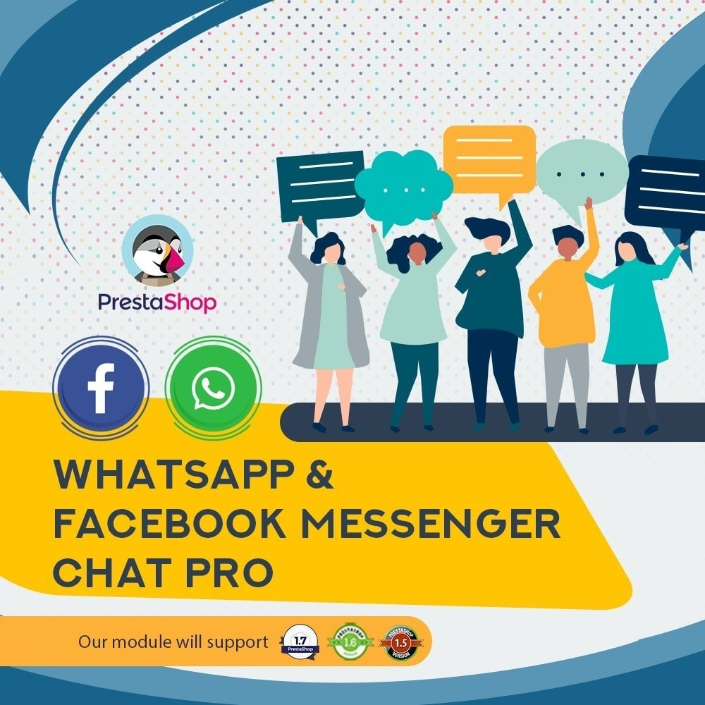 module - Support & Online Chat - Whatsapp and Facebook Messenger Chat Pro - 1