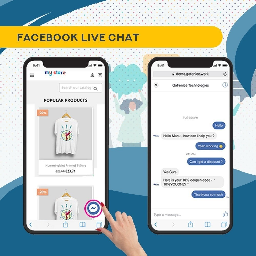 module - Support & Online Chat - Whatsapp and Facebook Messenger Chat Pro - 5