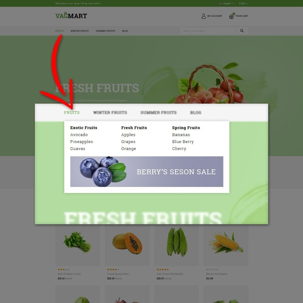 theme - Food & Restaurant - Vegmart grocery store - 8