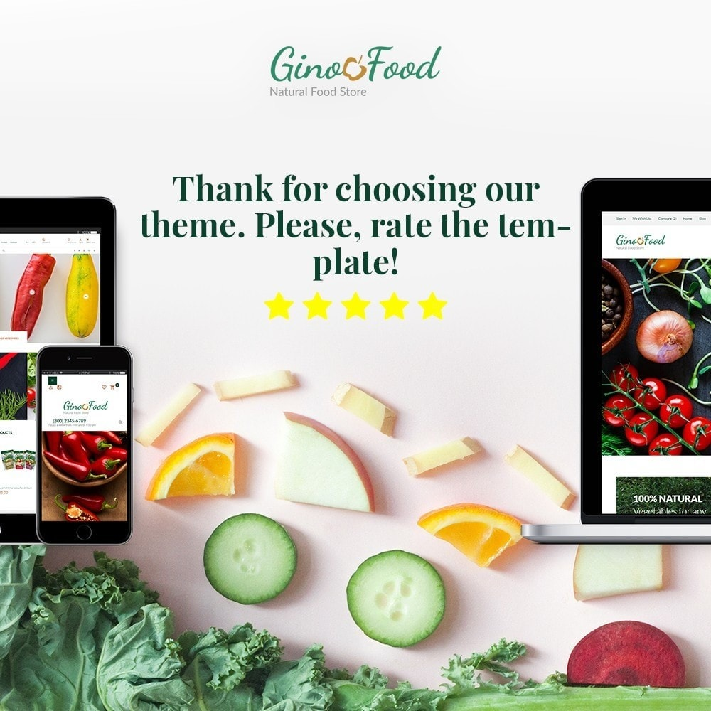 theme - Lebensmittel & Restaurants - GinoFood - Organic Food Store - 1
