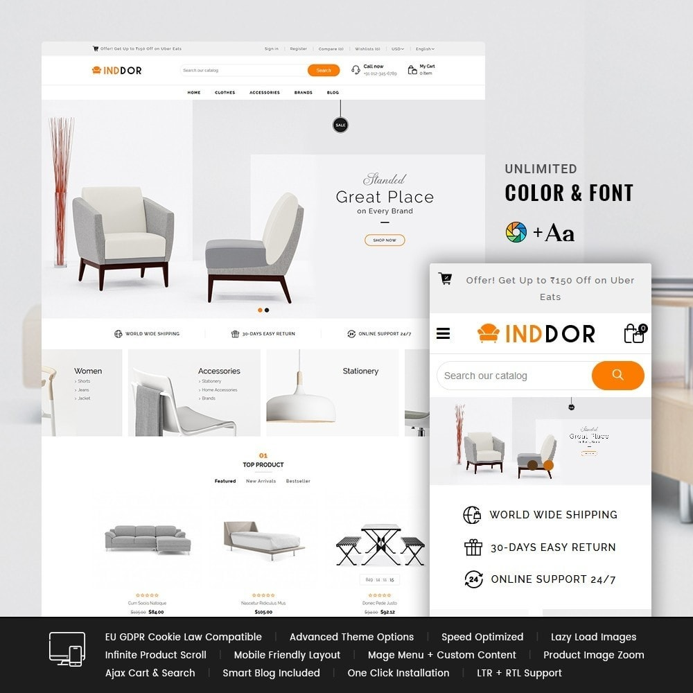 theme - Casa & Jardins - Inddor Furniture Store - 1