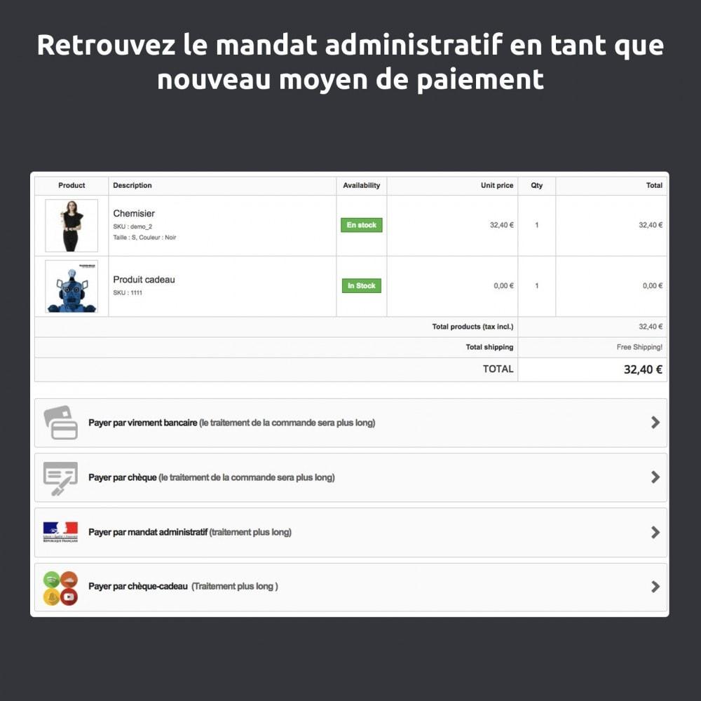 module - Paiement par Transfert Bancaire - Mandat administratif - 4