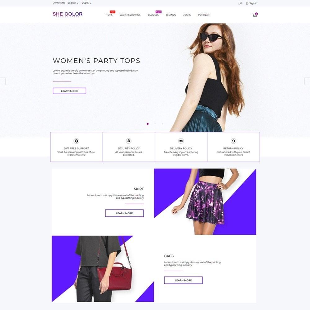 theme - Fashion & Shoes - she Color Fashion Store - 2