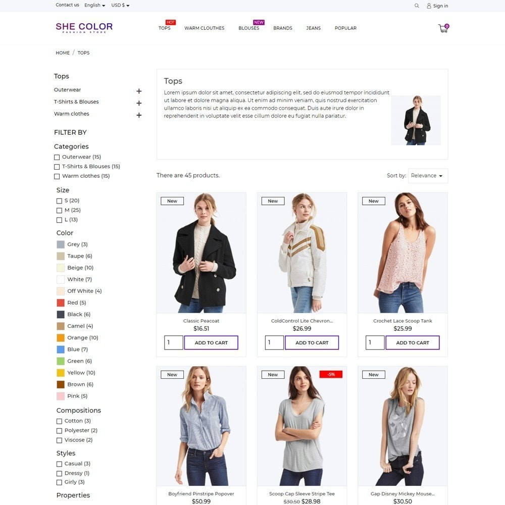 theme - Fashion & Shoes - she Color Fashion Store - 6