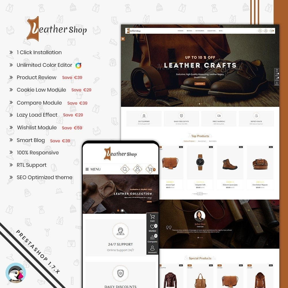 theme - Mode & Schoenen - Leather Shop - 1