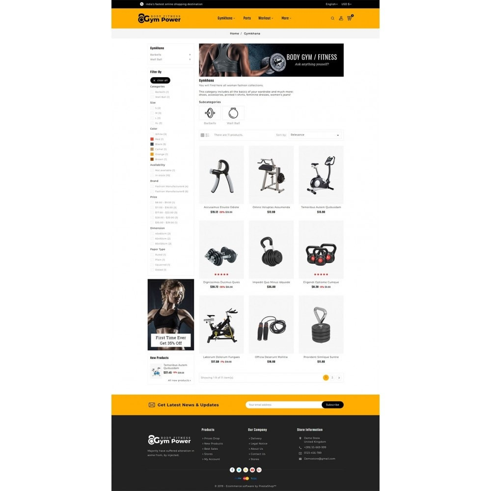 theme - Sports, Activities & Travel - Gym Power - Body Fitness - 3