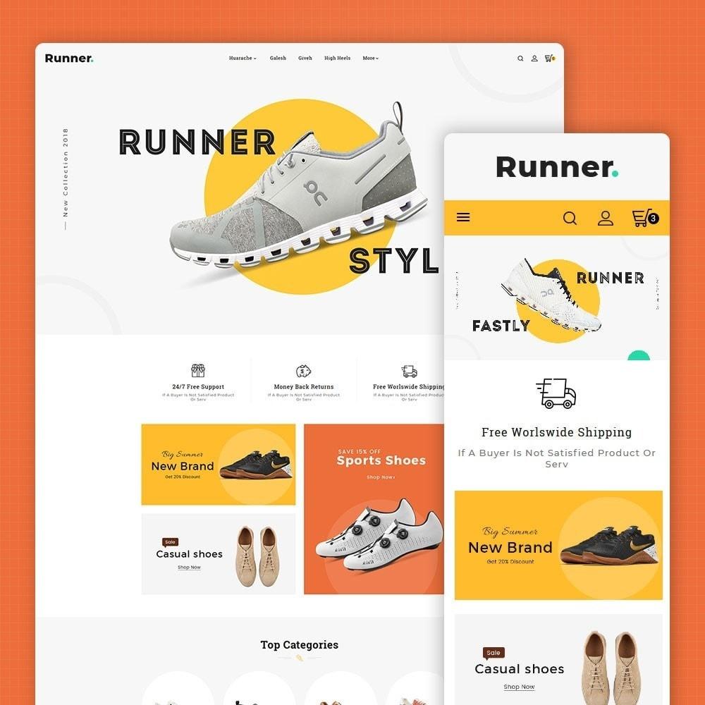 theme - Sport, Activiteiten & Reizen - Runner - Sports Shoes & Footwear - 1