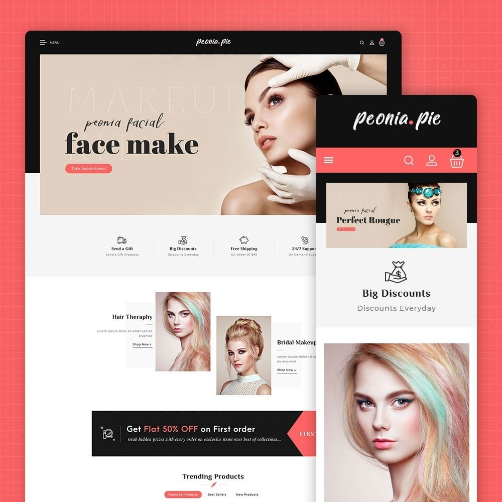 theme - Health & Beauty - Peonia Pie - Beauty Cosmetics - 1