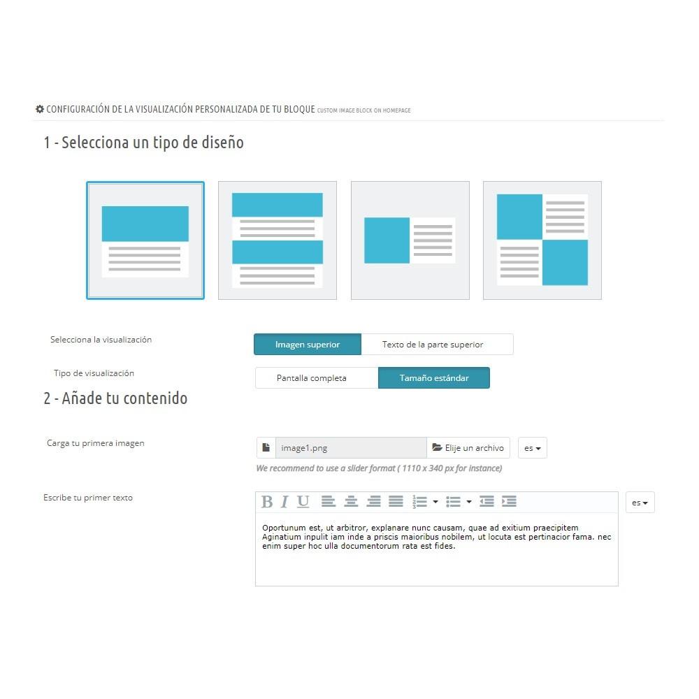 module - Bloques, Pestañas y Banners - Bloque de imágenes personalizado en la página de inicio - 2