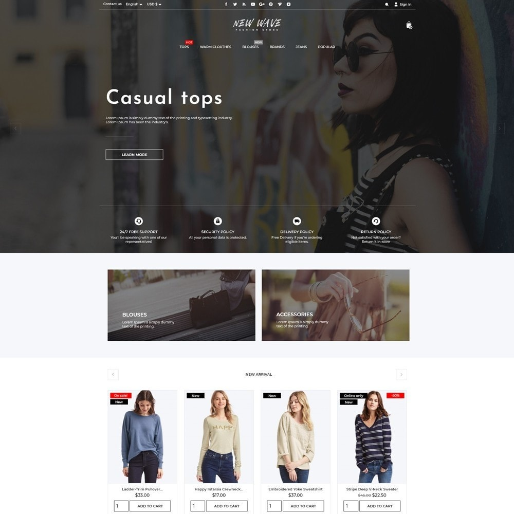 theme - Fashion & Shoes - New Wave Fashion Store - 2