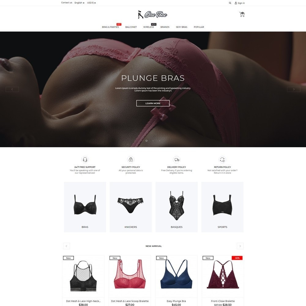 theme - Lingerie & Adulte - One tone Lingerie Shop - 2