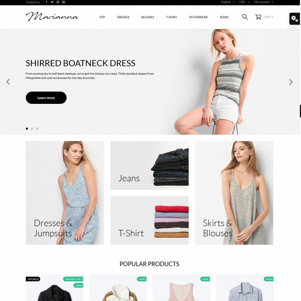 theme - Mode & Schuhe - Marianna Fashion Store - 2