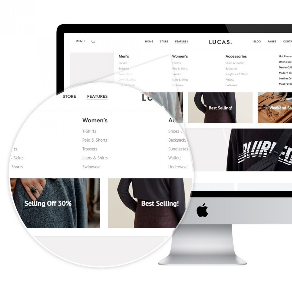 theme - Mode & Chaussures - Lucas - Premium Fashion Theme - 3